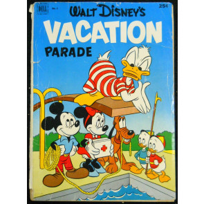 WALT DISNEY'S VACATION PARADE #'s 3, 4, 5 LOT OF 3 DONALD MICKEY GOOFY 1953