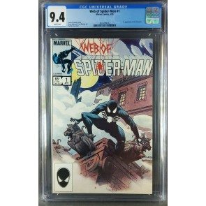 Web of Spider-Man #1 (1985) CGC 9.4 WP Classic Charles Vess cover 3824799012|