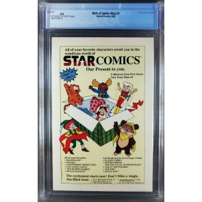 Web of Spider-Man #1 (1985) CGC 9.4 OWW Classic Charles Vess cover 3824799013 