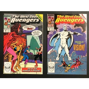 West Coast Avengers (1985) 42 & 45 VF/NM parts 1 & 4 of  Vision Quest storyline