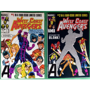 West Coast Avengers (1984) 1 2 3 4 VF (8.0) complete set Hawkeye