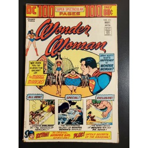 Wonder Woman #211 (1974) F+ (6.5) 100 Page Giant Wonder Girl appearance|