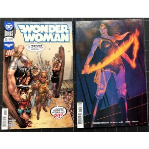 Wonder Woman (2016) #55 NM- (9.2) regular & variant cover set