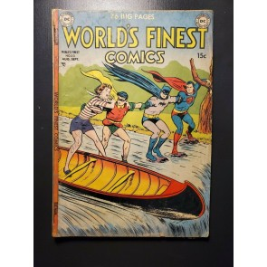 WORLD'S FINEST COMICS 53 1951 DC COMPLETE GOOD BATMAN SUPERMAN