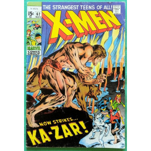 X-MEN (1963) #62 VG- (3.5) Ka-Zar app Neal Adams cover & art