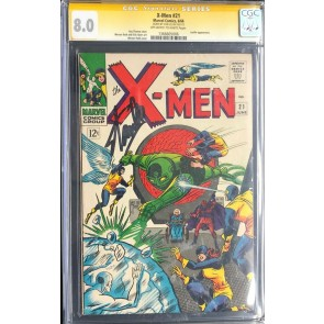 X-Men (1963) #21 CGC 8.0 Signature Series signed by Stan Lee (1366605006)