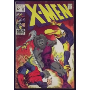X-MEN (1963) #53 VG/FN 1ST BARRY SMITH COMIC BOOK WORK