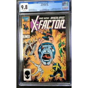 X-Factor (1986) #6 CGC 9.8 White Pages 1st app Apocalypse (2128263021)