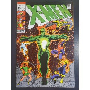 X-MEN #55 (1969) VF-(7.5) HAVOK GAINS POWERS VS. LIVING PHARAOH BARRY SMITH CVR|