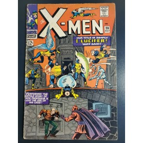 X-MEN #20 (1963) VG (4.0) LUCIFER, HOW PROFESSOR X LOST USE OF LEGS REVEALED |