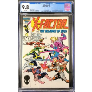 X-Factor (1986) #5 CGC 9.8 White Pages 1st app Apocalypse in Cameo (2128263020)
