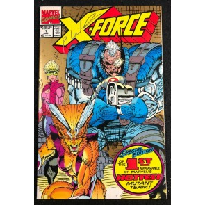 X-Force (1991) #1 NM (9.4) 2nd print gold variant signed by Rob Liefeld