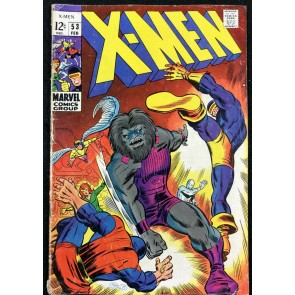 X-Men (1963) #53 VG- (3.5) Barry Smith cover & art his 1st comic book work