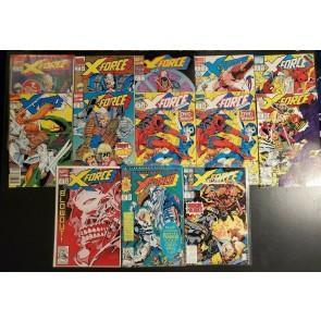 X-force comic lot #1, 1 2nd print, 2,3,4,6,7,11 Direct, 11 UPC 13, 14, 18, 21 |