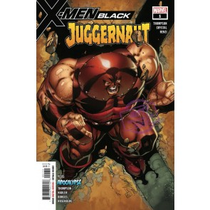 X-men: Black - Juggernaut (2018) #1 VF/NM J. Scott Campbell  Regular Cover