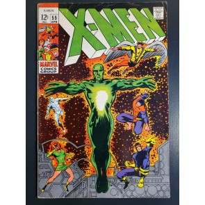 X-MEN #55 (1969) VG (4.0) HAVOK GAINS POWERS VS. LIVING PHARAOH BARRY SMITH CVR|