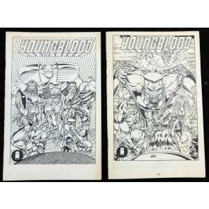 Youngblood Ashcan (1991) #1 VF (8.0) 2 different copies