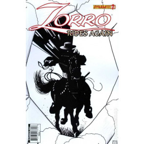 ZORRO RIDES AGAIN #1 VF/NM SKETCH VARIANT COVER