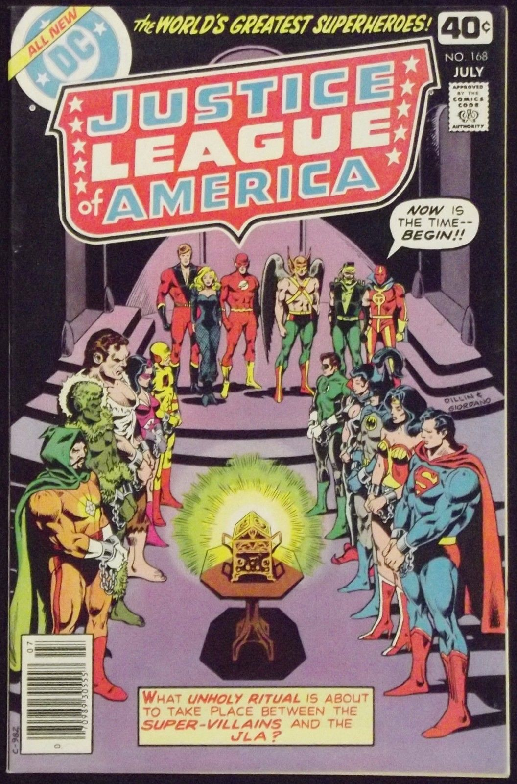 justice league of america  168 vf  nm jsa vs secret society of super villains