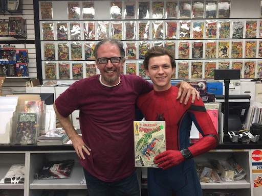 Gus Poulakas with Tom Holland Spider-man Homecoming