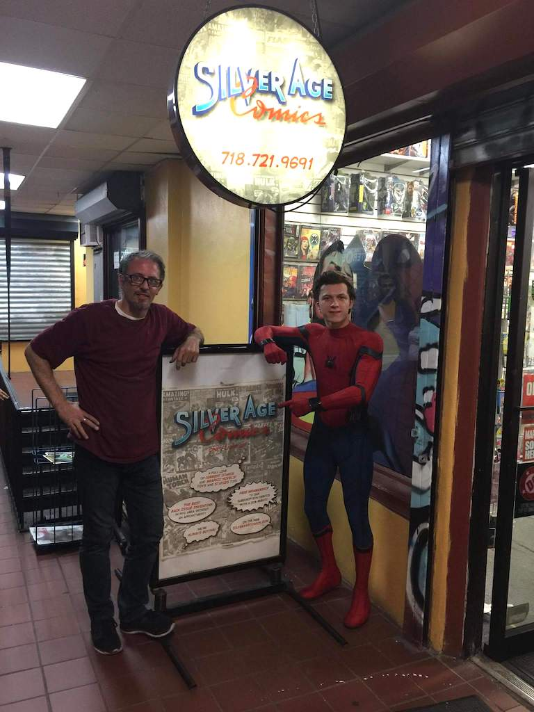 Tom Holland visiting Silver Age Comics
